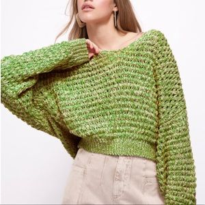 Free People Coconut Knit V Neck Sweater